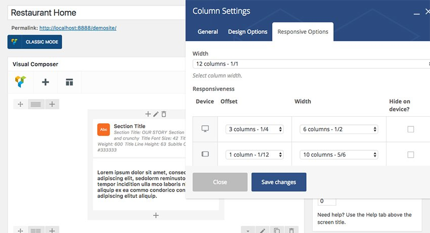 editing elements in WordPress