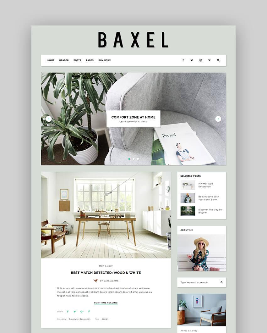 Baxel - Fresh Flexible Basic WordPress Blog Theme