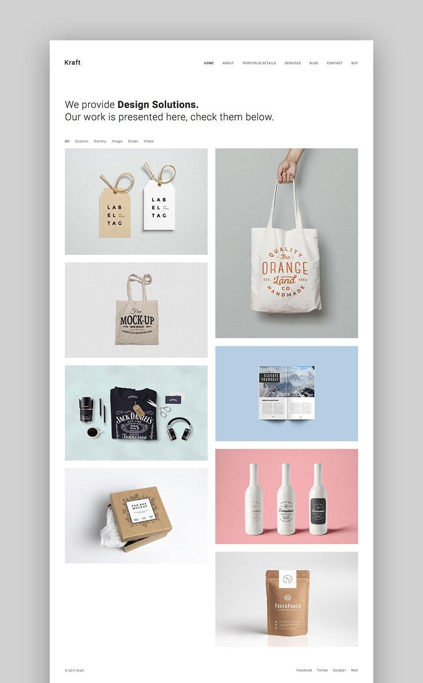 Kraft - Clean Minimal WordPrss Portfolio Theme
