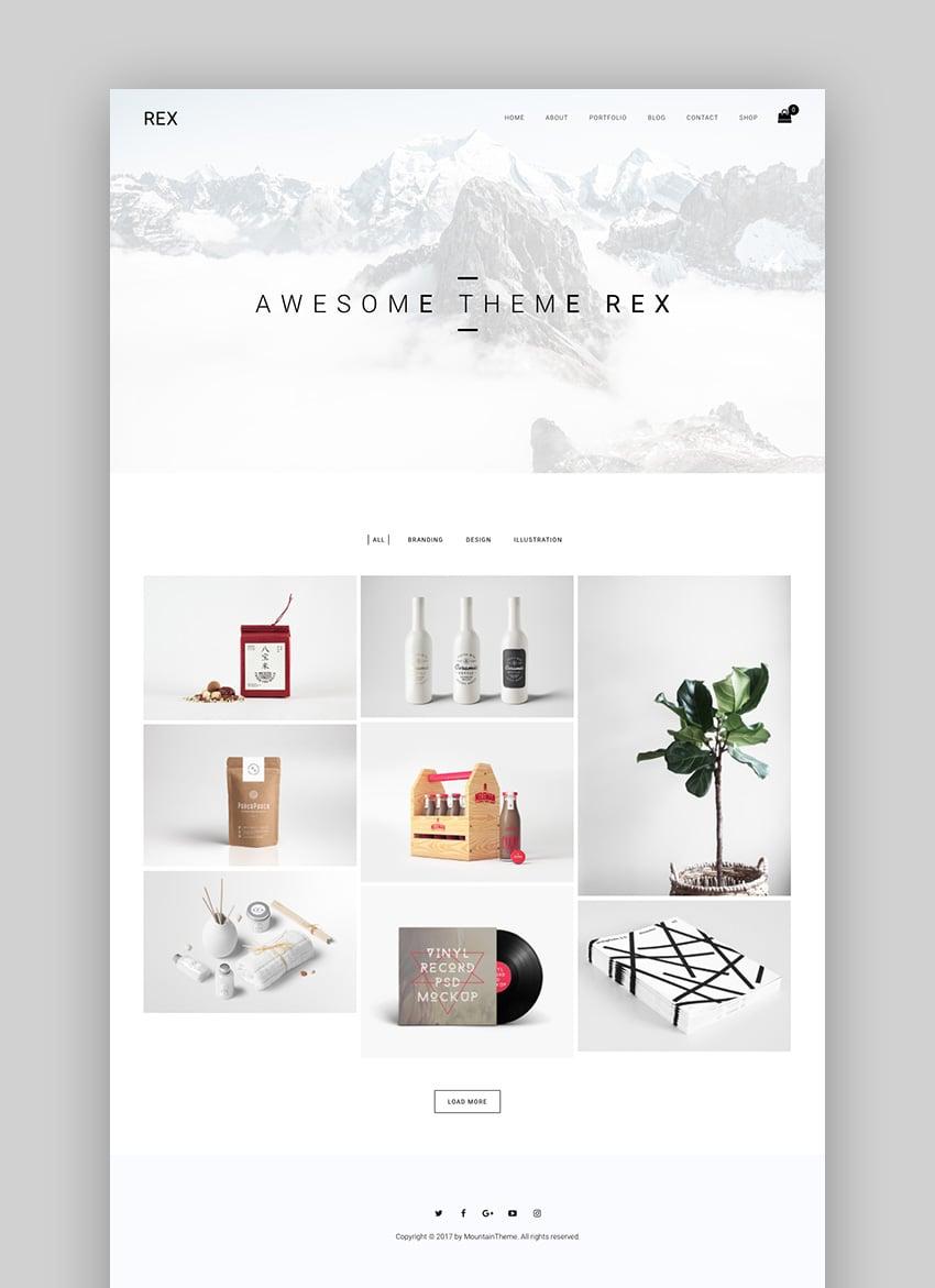 Rex - Simple WordPress Theme With Minimal Design