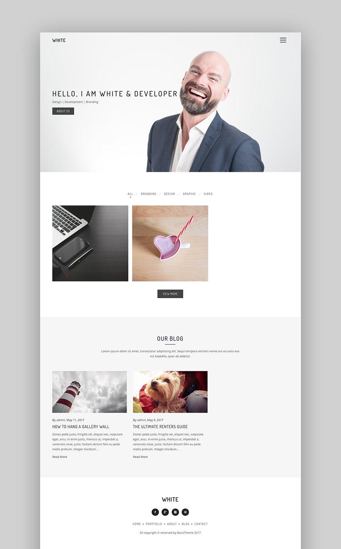 White - Simple WordPress Theme With Minimal Style