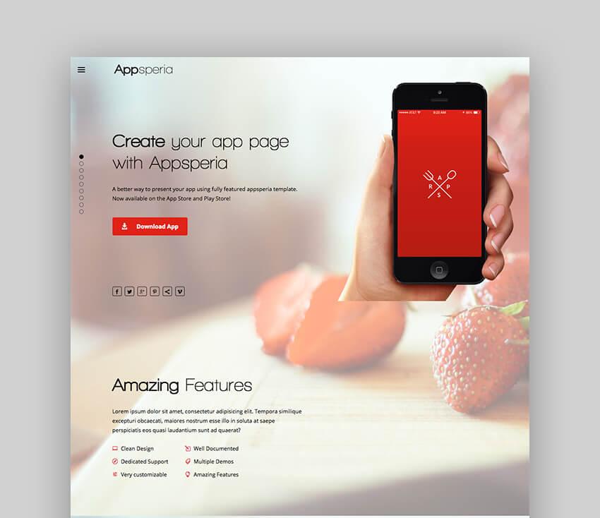 AppSperia mobile app WordPress theme