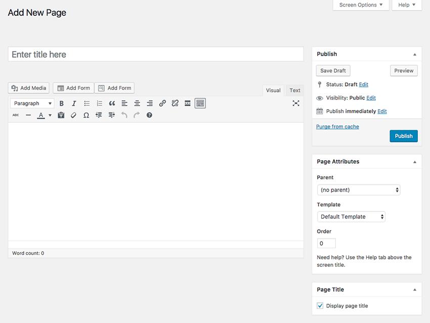 Add new page in Job Board WordPress theme