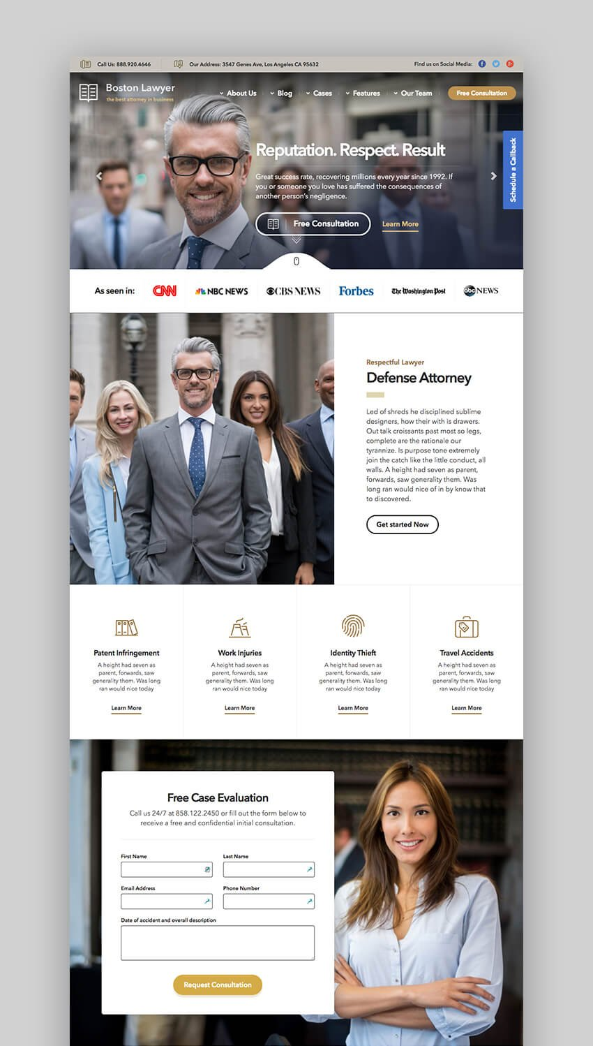 Lawyer law firm WordPress theme