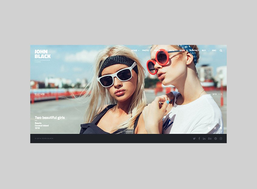JohnBlack Full-Screen Photography Theme for WordPress