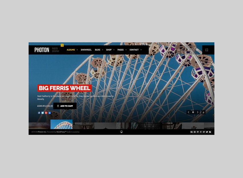 Photon Creative Full-Screen WordPress Theme