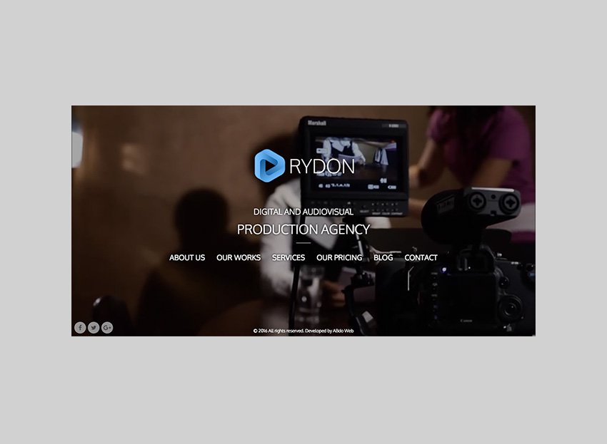 RYDON Responsive Video Full-Screen WordPress Theme