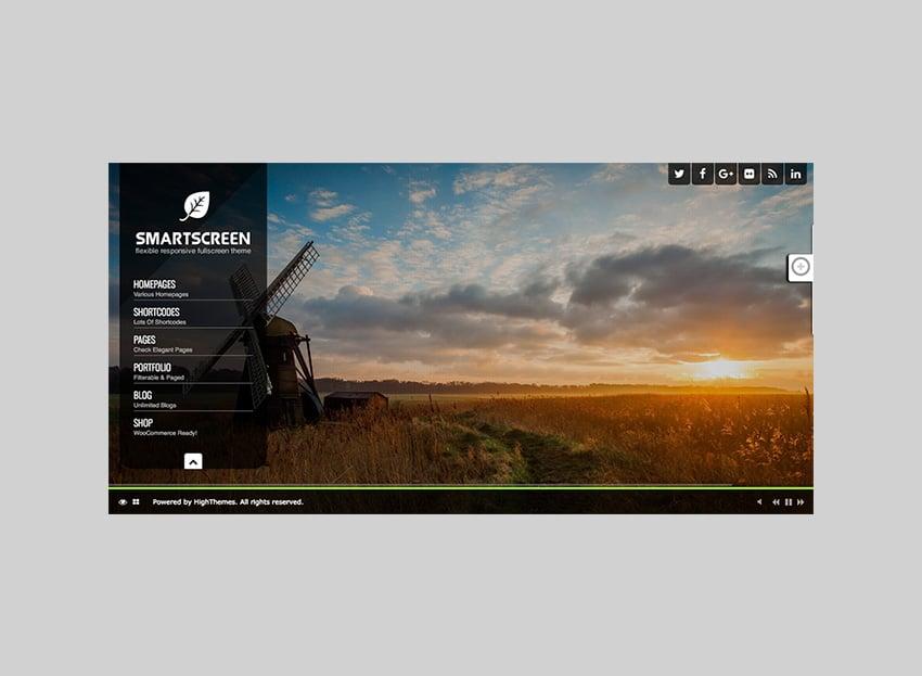 SmartScreen Fullscreen Responsive Dark WP Theme