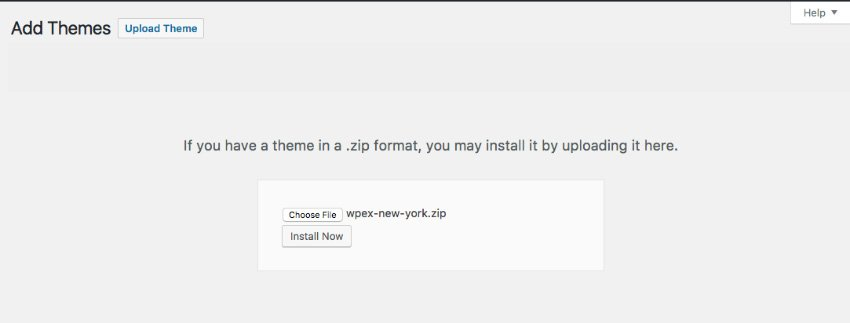 Installing the WordPress blog theme