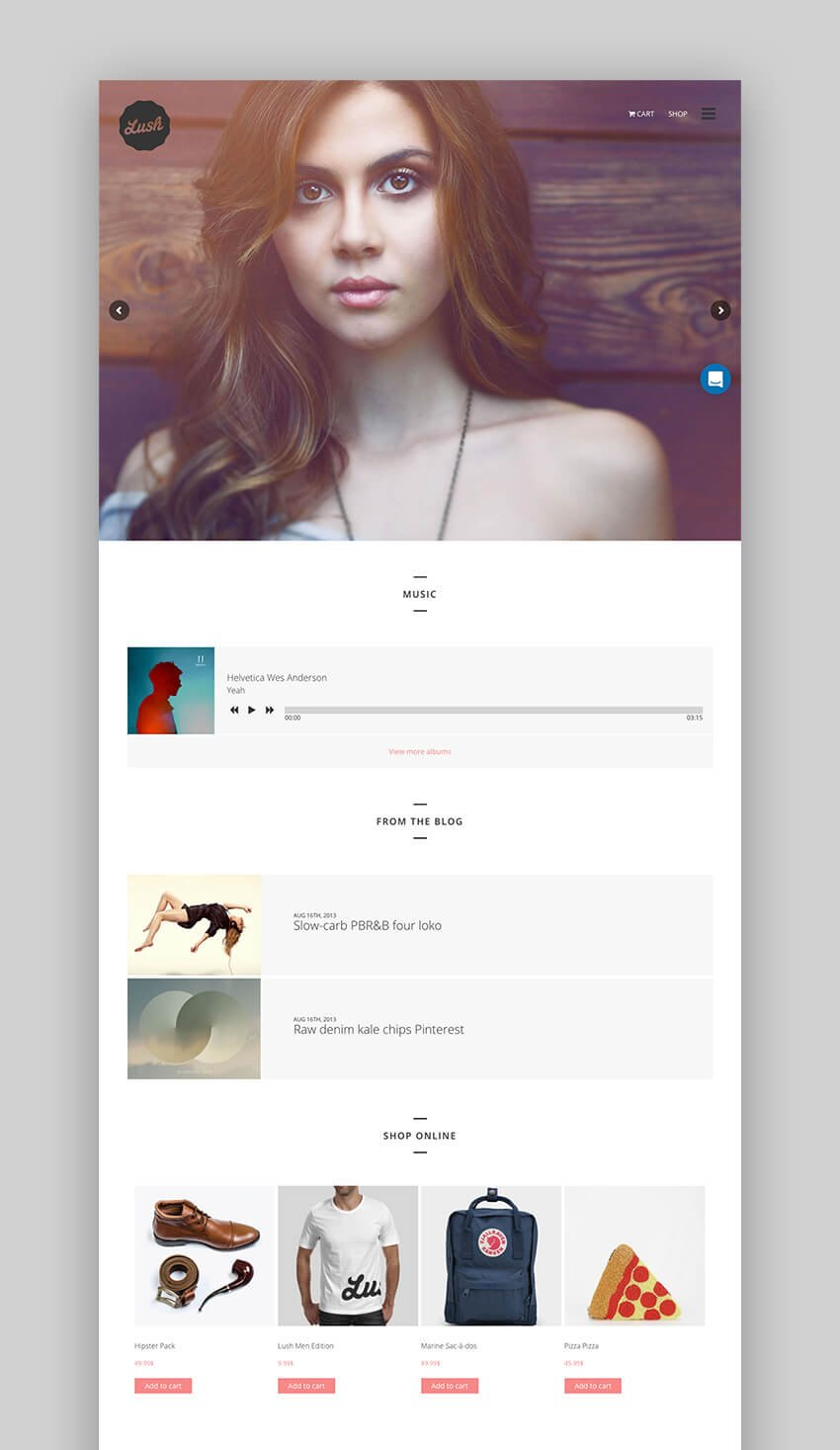 Lush WordPress Theme for Musicians and Bands