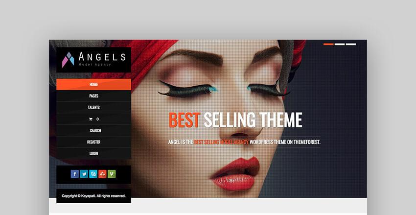 Angel Model and Agency WordPress theme