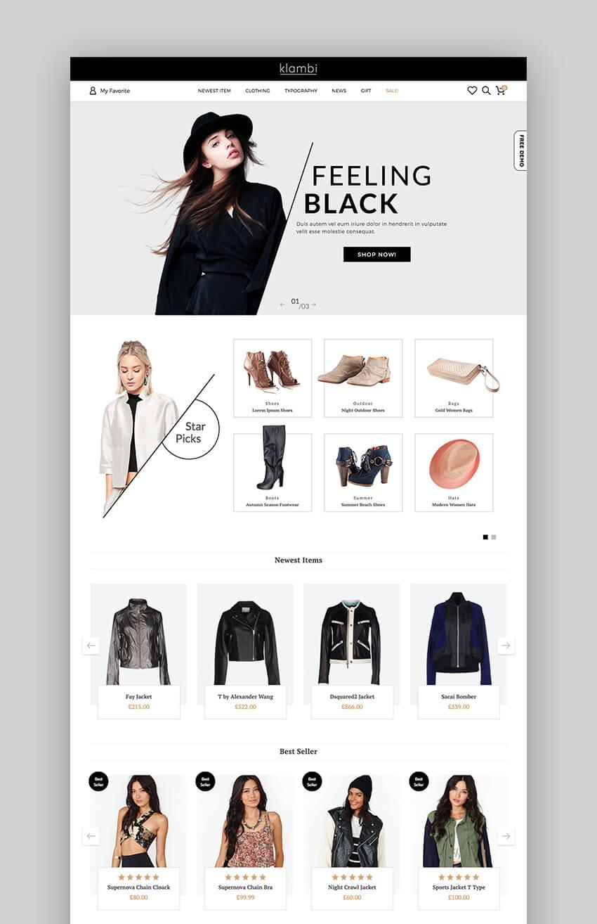 Klambi Fashion design WordPress Theme