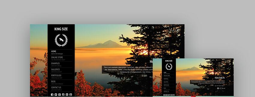 Kingsize fullscreen photography responsive WP theme