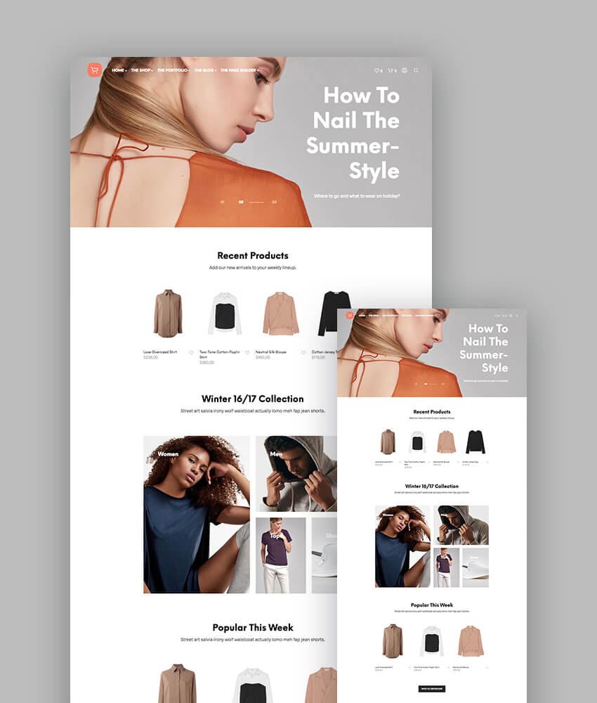 Shopkeeper ecommerce theme for responsive WordPress websites