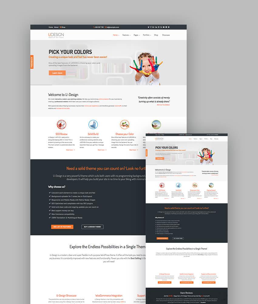 uDesign responsive theme for wordpress websites