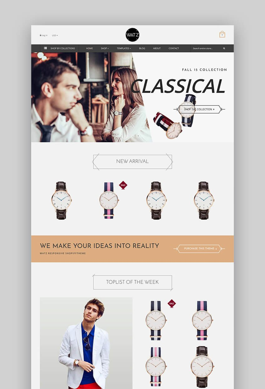 Watch Store responsive theme