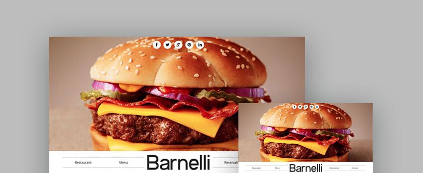 Barnelli Restaurant Template