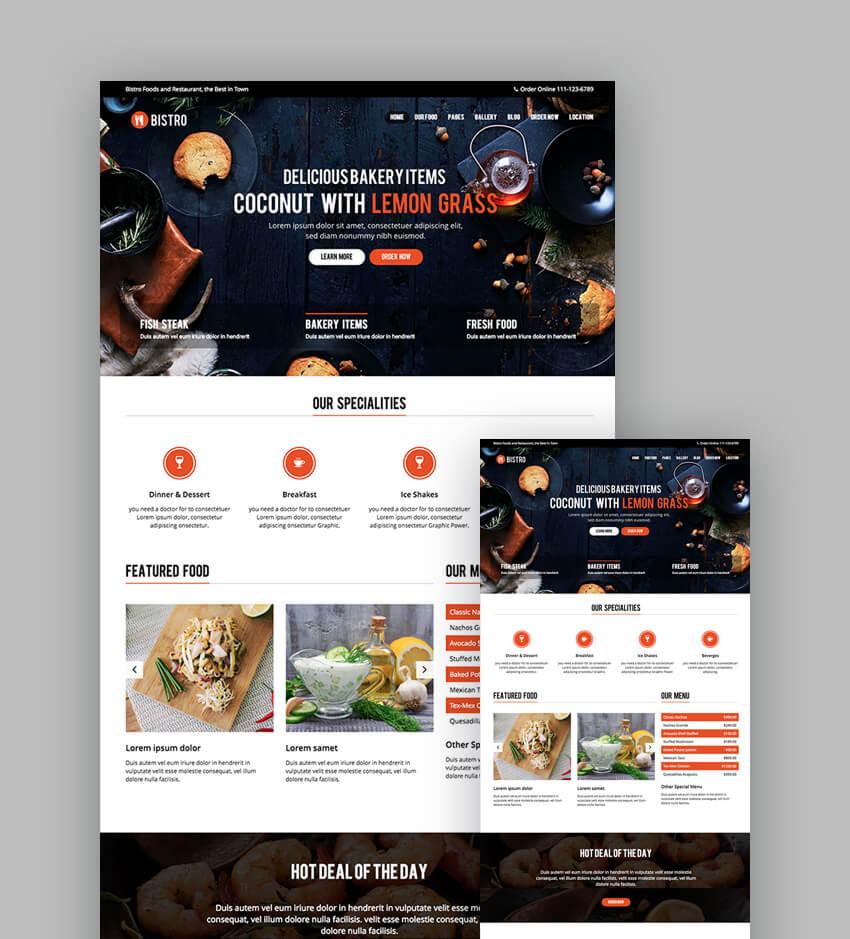 Bistro Restaurant HTML Template