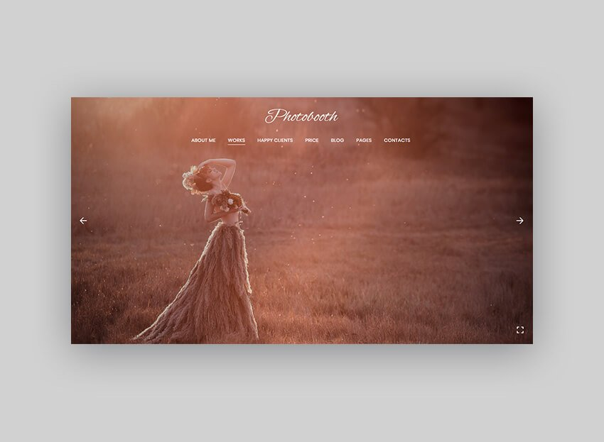 Photobooth WordPress theme