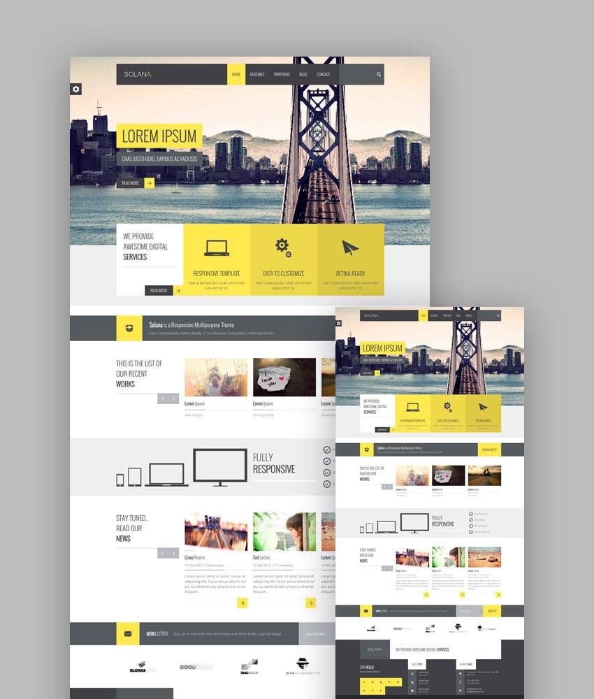 Solana HTML5 template