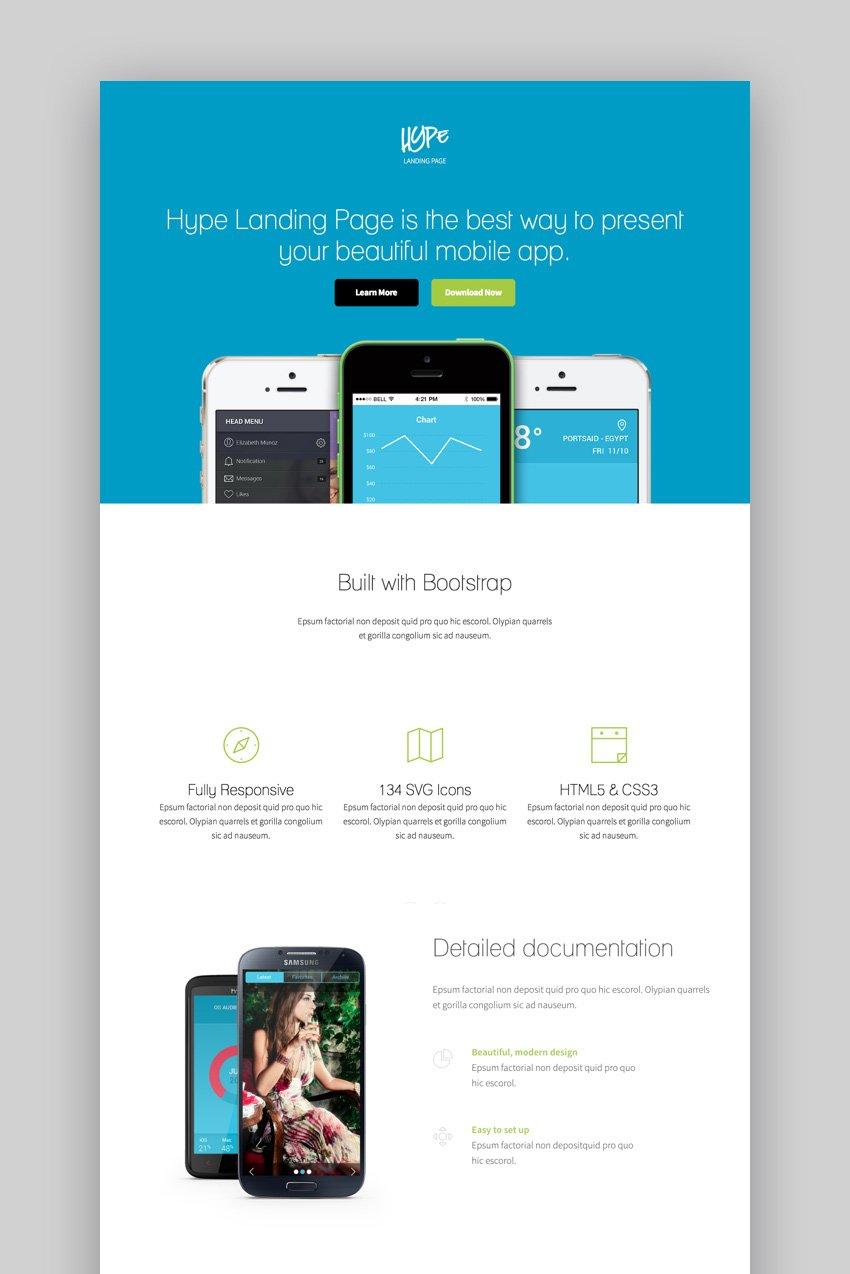 Hype Landing Page Theme