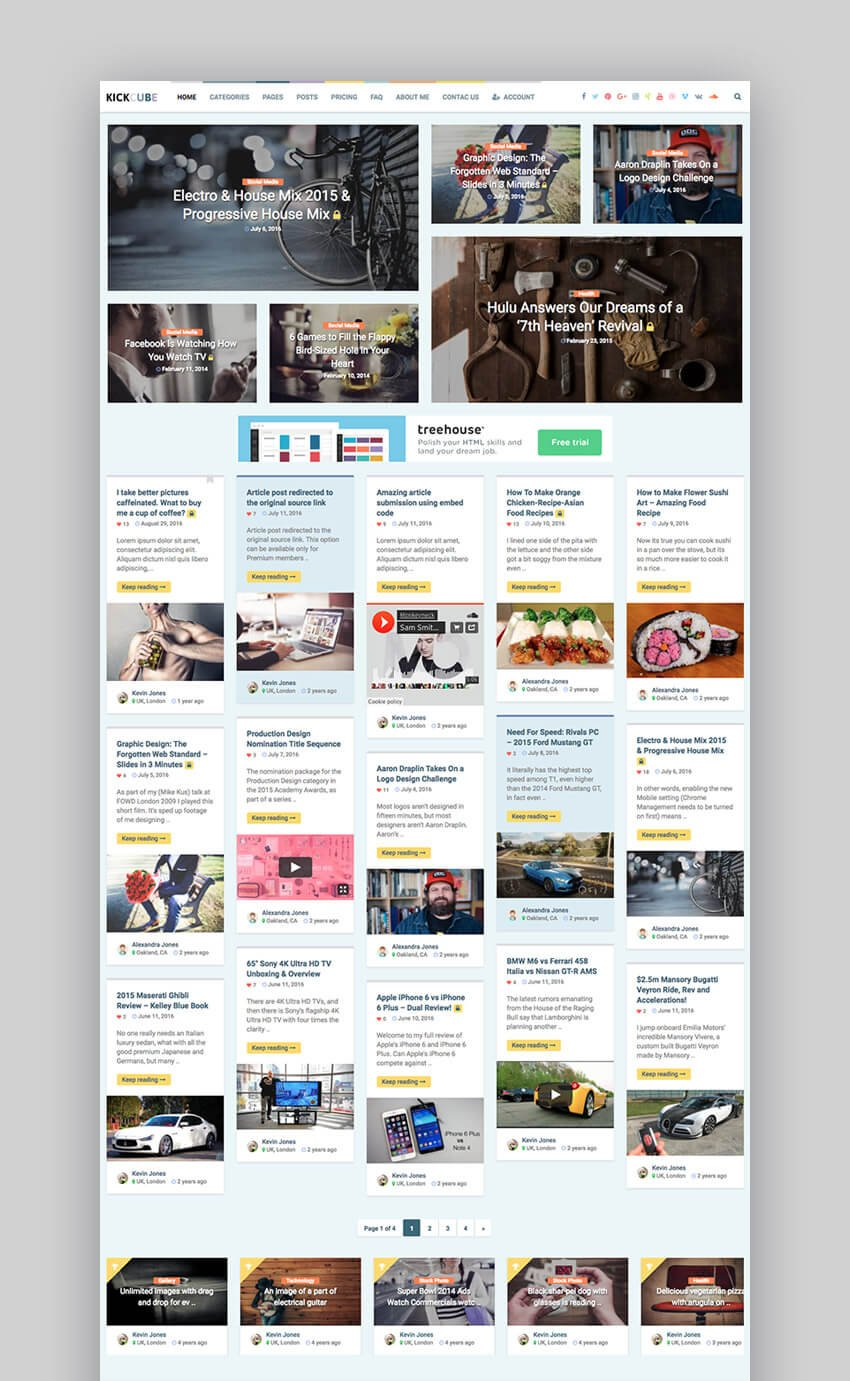 Kickcube membership video WordPress theme