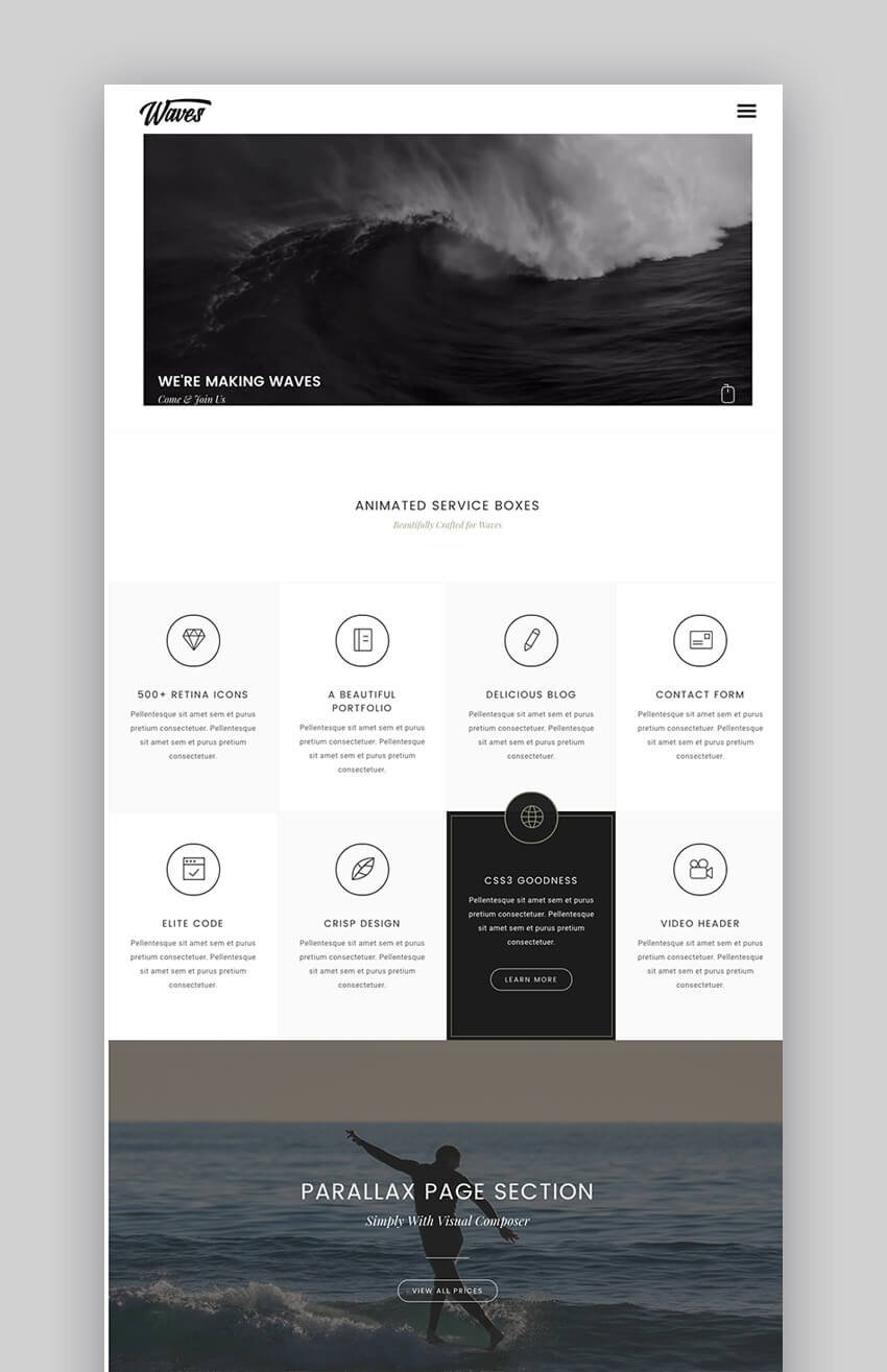 Waves video WordPress theme