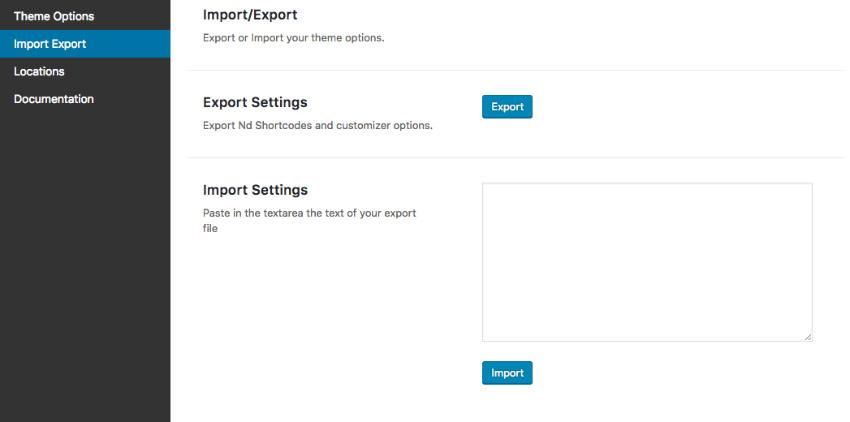 shortcode settings