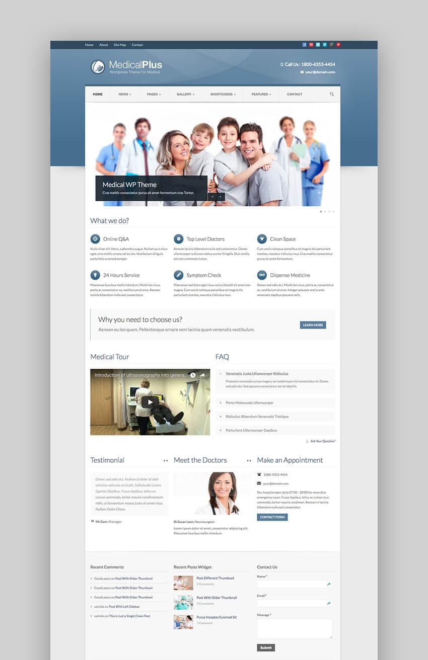 Medical Plus corporate WordPress theme