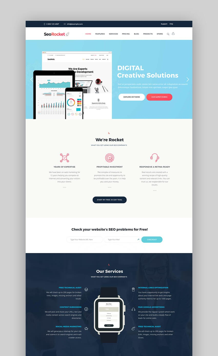 SEO Rocket WordPress theme