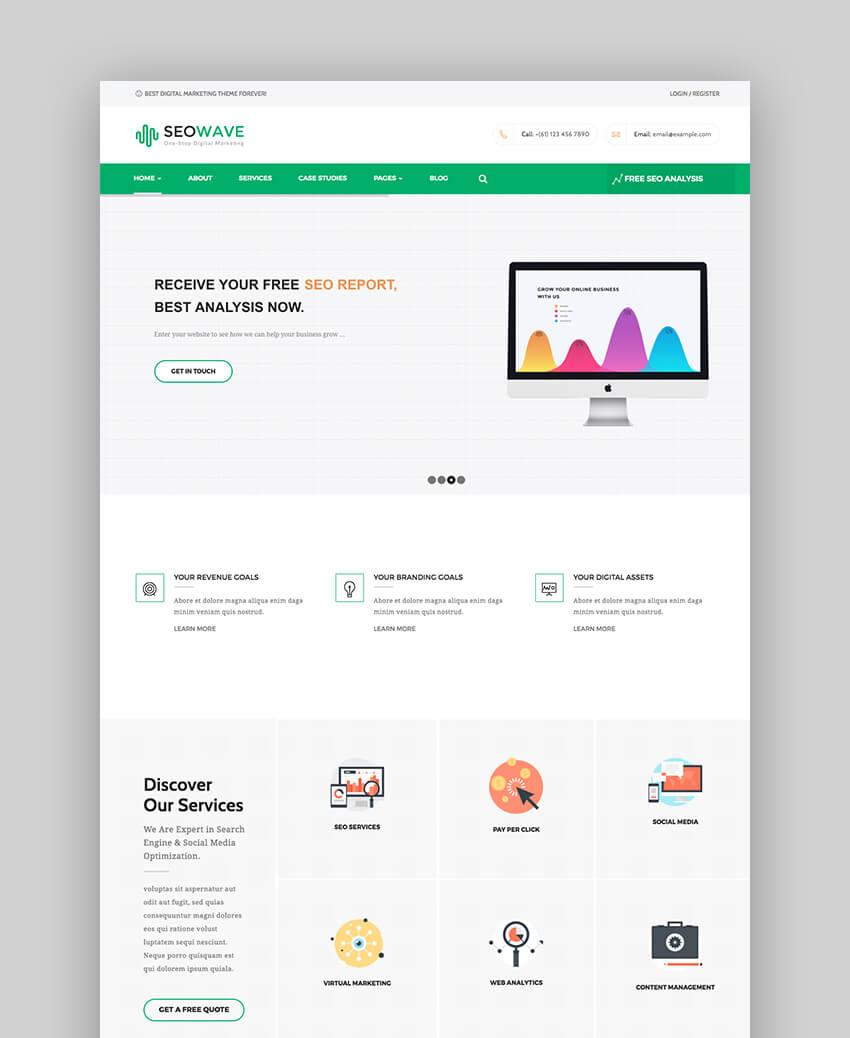 SEO Wave modern WordPress theme
