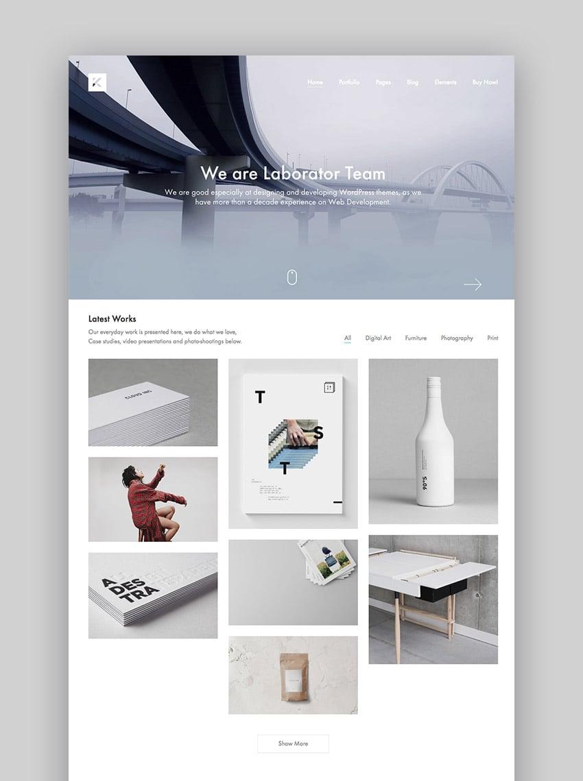 Kalium creative WordPress theme