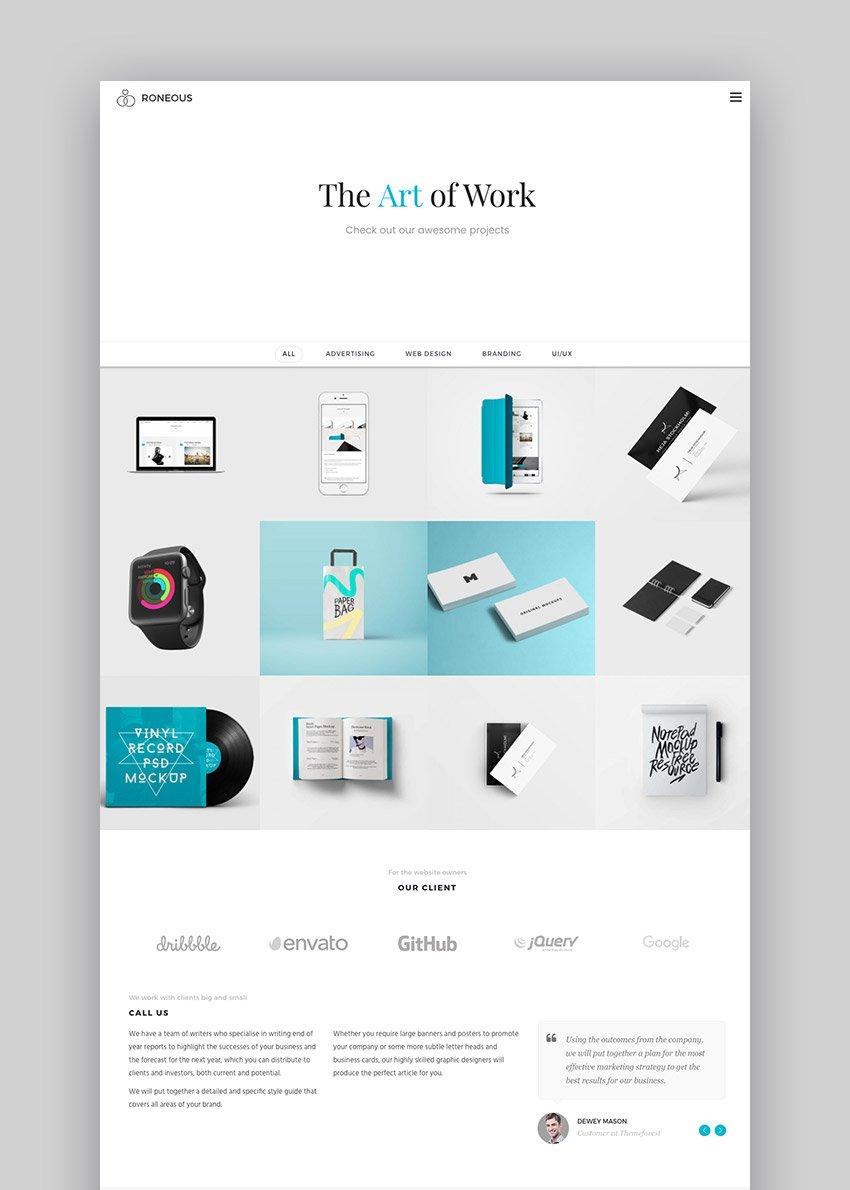 Roneous Creative WordPress Theme