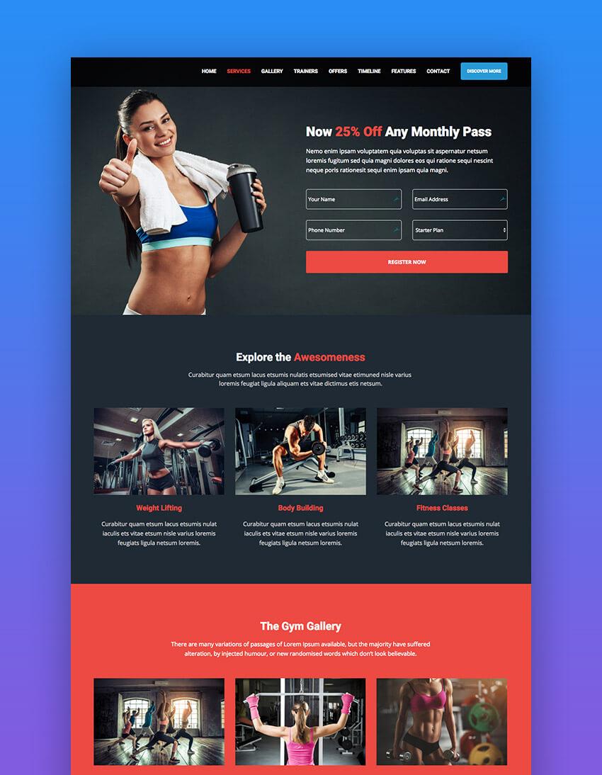 BeSmart Personal Trainer WordPress theme for fitness websites