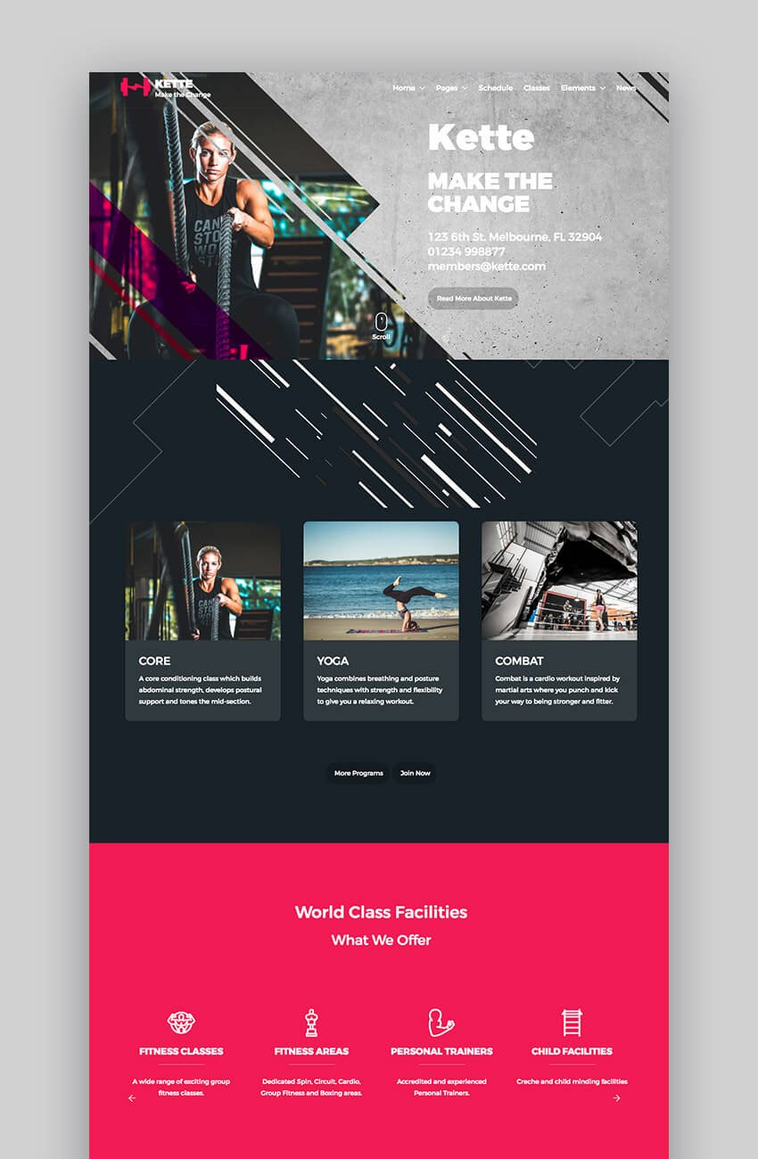 Kette multiconcept WordPress theme