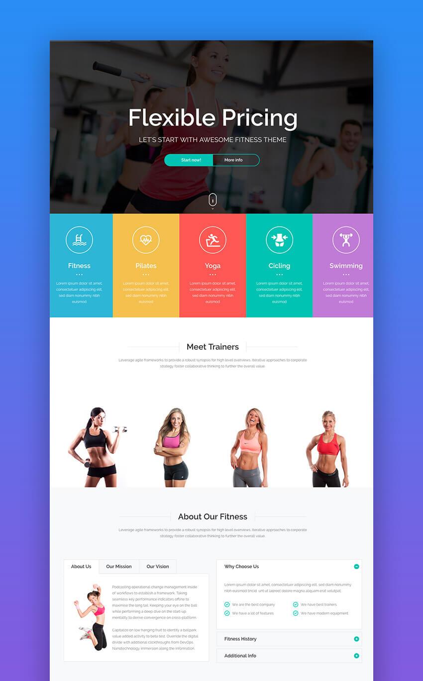 Life Fitness WordPress theme