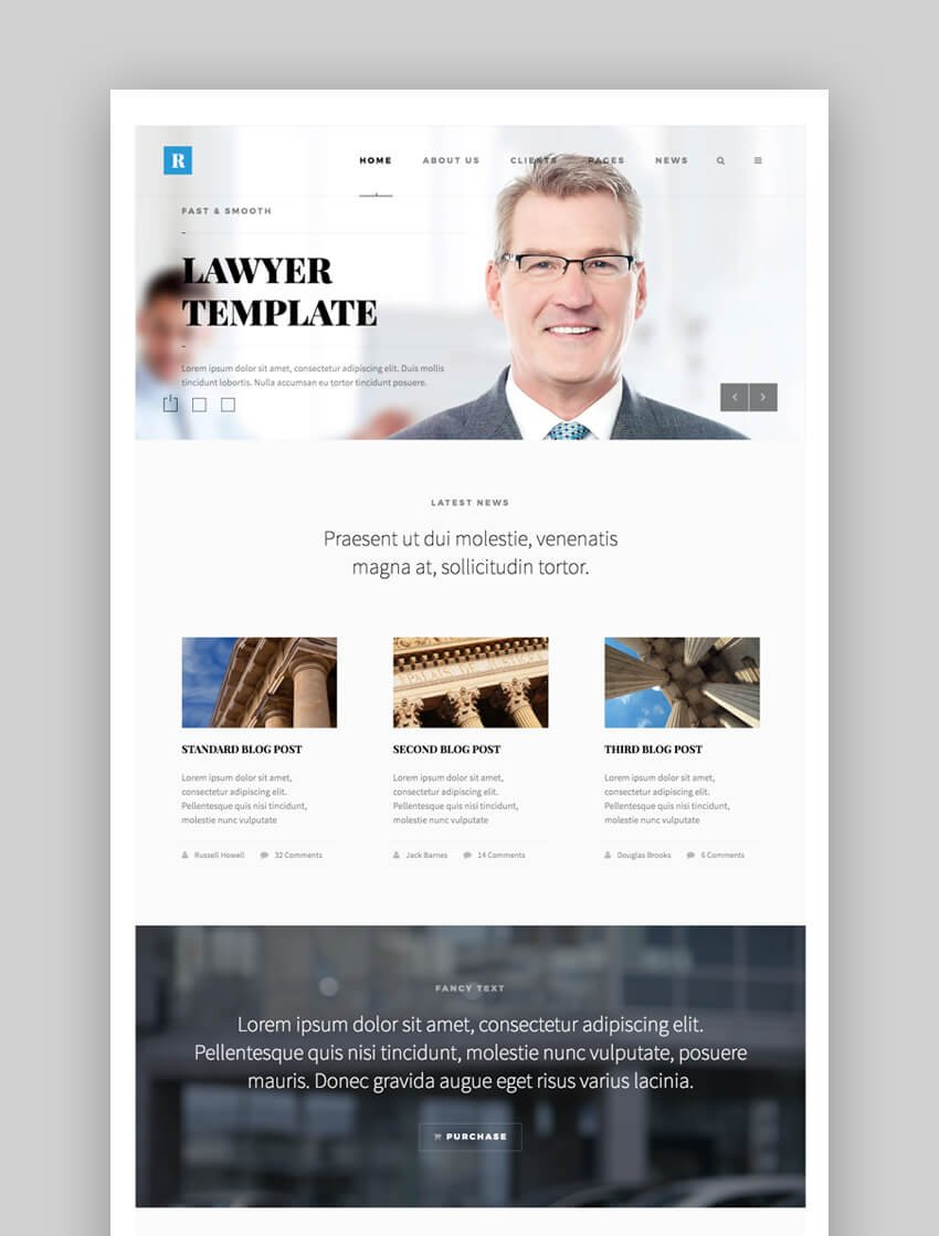 Rely legal website template