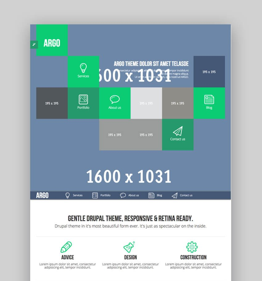 Argo - Bootstrap Drupal Theme Con Diseo Metro