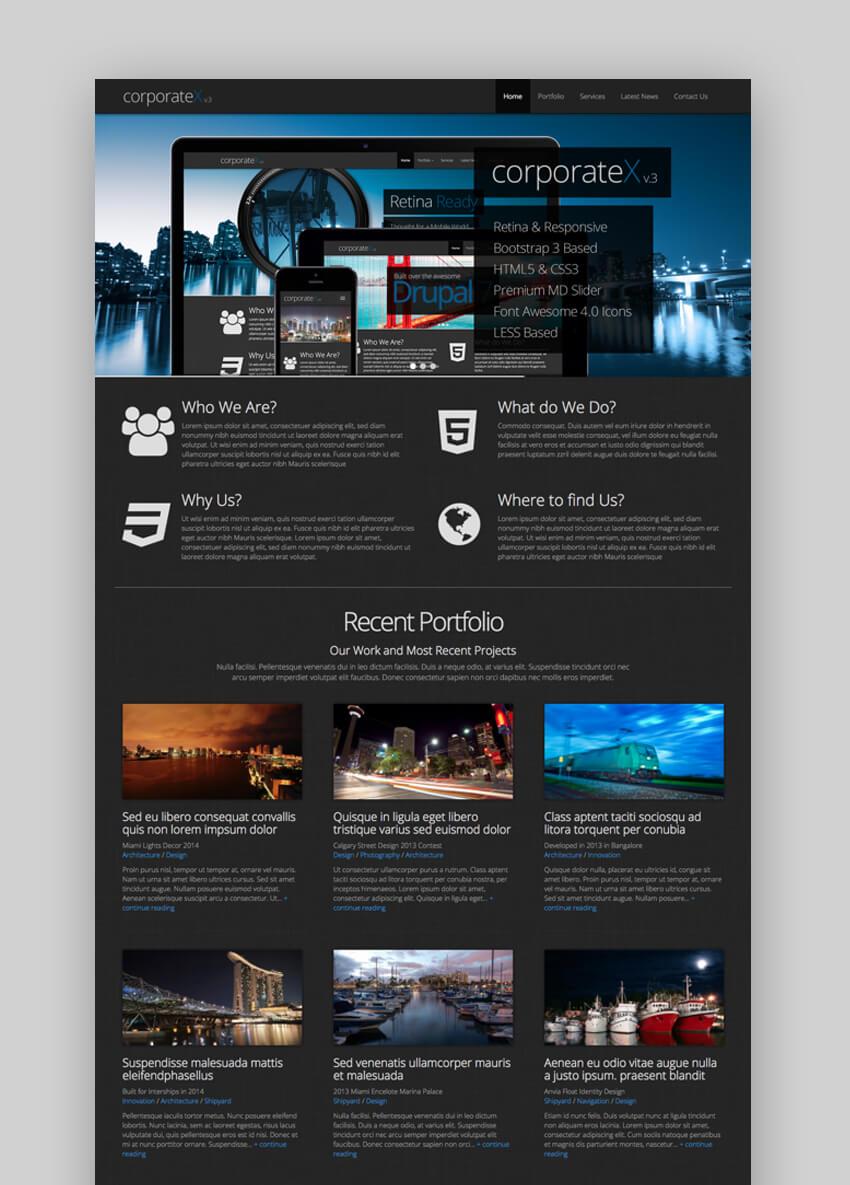 Corporate X - Bootstrap Basado en Drupal Theme