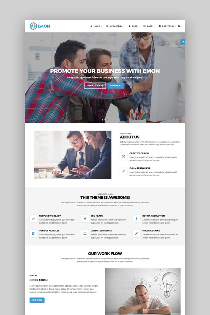 Emon - Customizable Bootstrap Template Personalizable