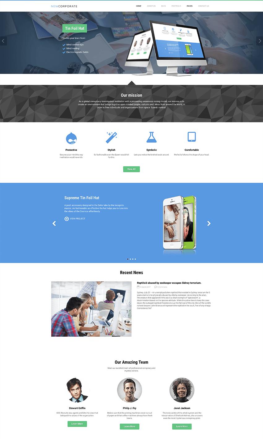 Multipurpose free Drupal theme