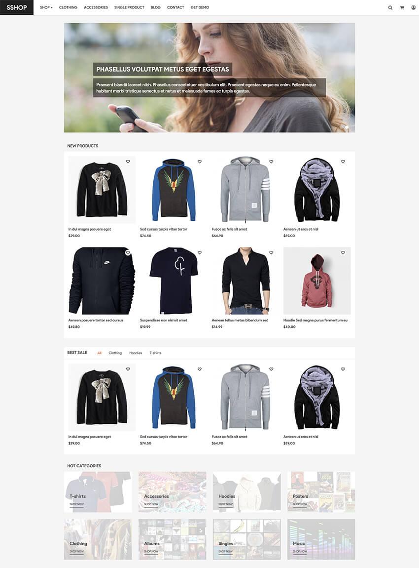 SShop free e-commerce Drupal theme