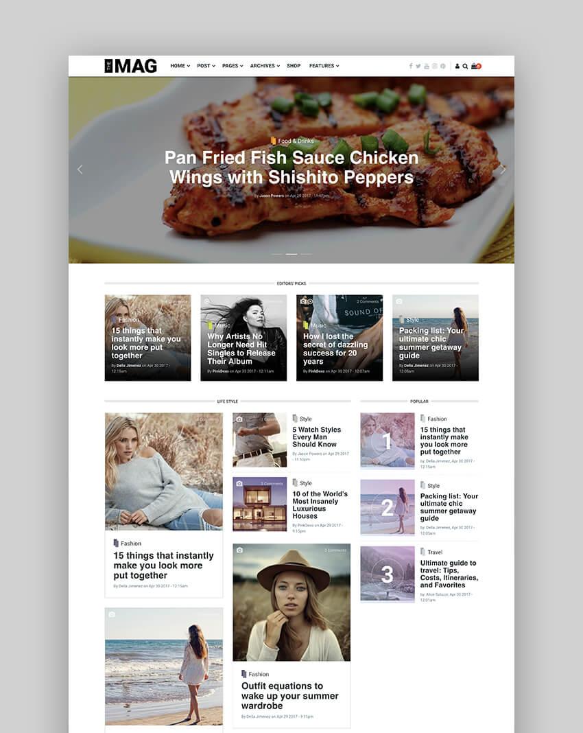 TheMAG responsive blog drupal theme