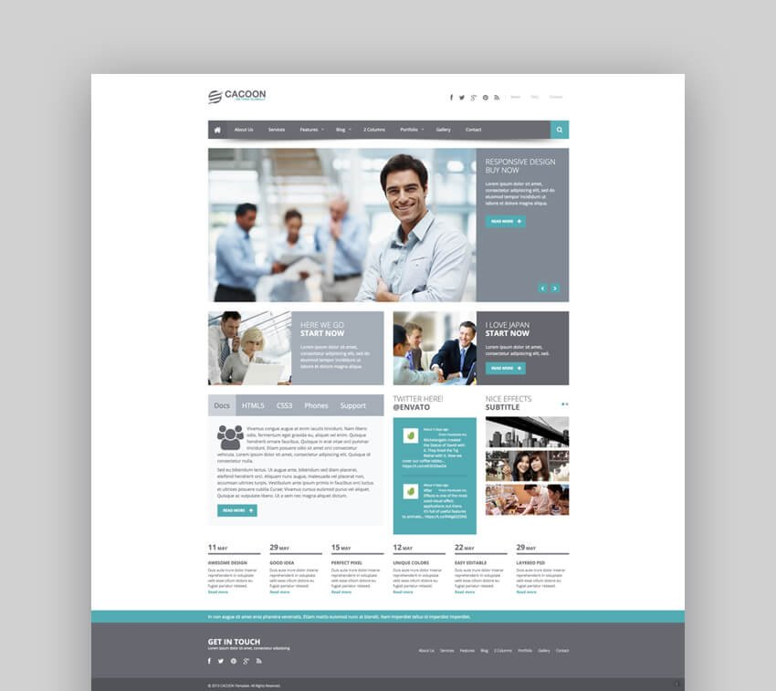 Cacoon Joomla template for business