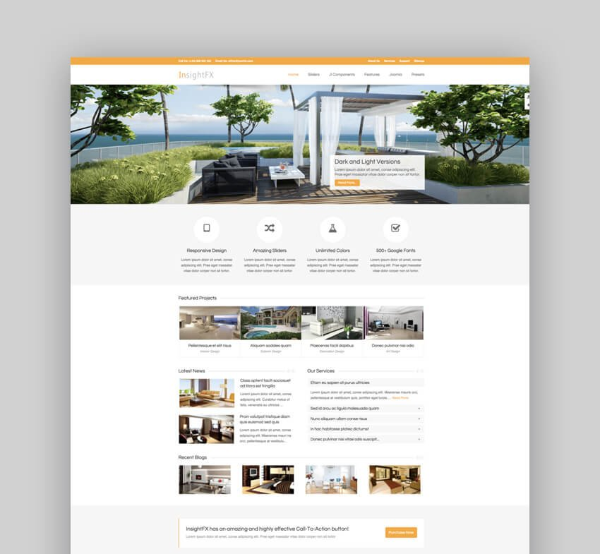 InsightFX multiconcept Joomla theme