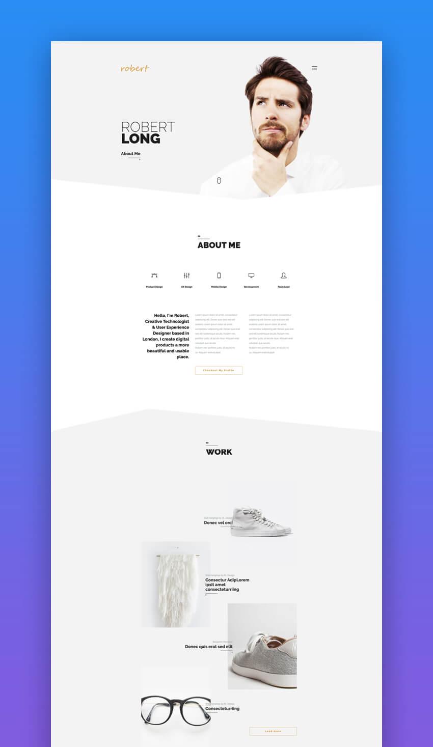 Its Me portfolio Joomla template