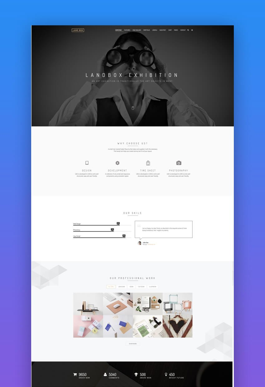 Landbox multipurpose Joomla template