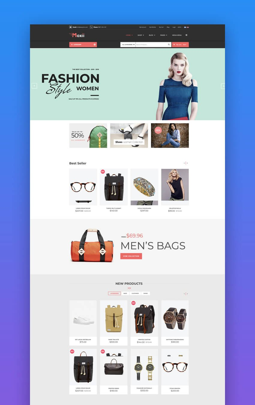Moxii e-commerce Joomla template