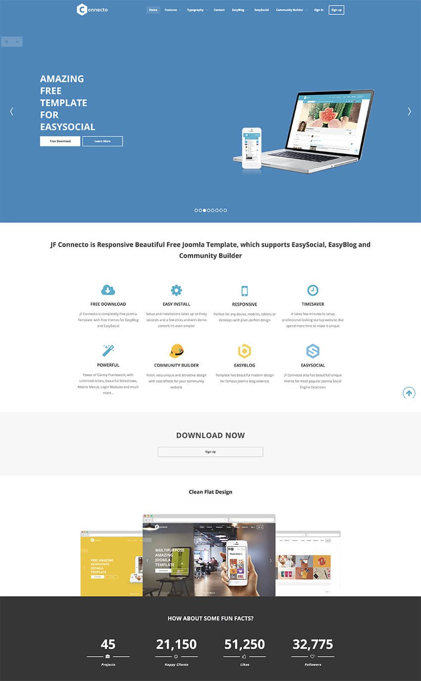 JF Connecto business Joomla template