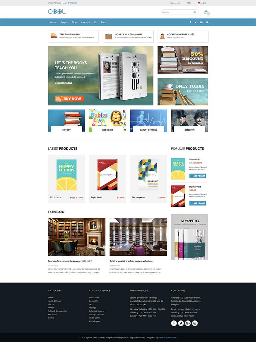 SJ Cool Joomla responsive e-commerce template